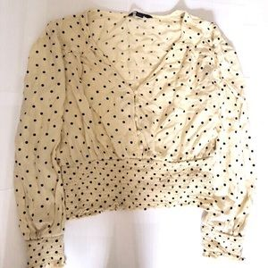 AMERICAN EAGLE POLKA DOT BLOUSE (medium)